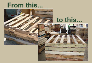 Recycled Pallets Pallet Recycling Edwards Wood Products